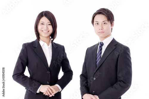 a portrait of asian business team