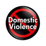 No Domestic Violence button poster