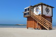 The lifeguard booth at the beach