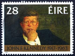 Postage stamp Ireland 1988 John F. Kennedy