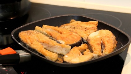 Fish on the pan