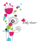 Happy floral baby shower