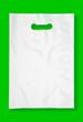 Plastic bag on green