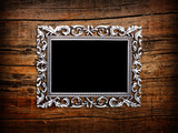 Empty silver frame