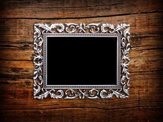 Empty silver frame