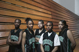 Portrait of girls basketball team