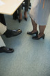 Feet of businesspeople