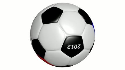EM 2012 Fußball drehend