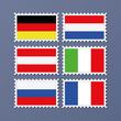 set aus diversen briefmarken flaggen deutschland