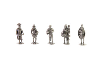 Full set of tin Roman antique soldiers