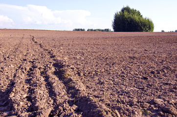 Background plow fertile ground agricultural fields