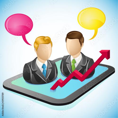 Tablet, businessman 3 - 39551789