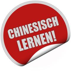 Sticker rot rund curl unten CHINESISCH LERNEN!