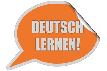 SP-Sticker orange curl oben DEUTSCH LERNEN!