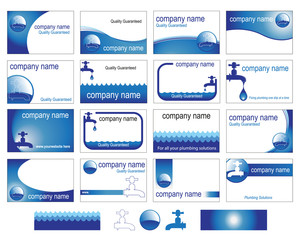 Business cards for the plumbing trade