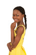 Cute smiling teenage girl of african descent