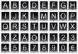Buchstaben und Zahlen Tasten