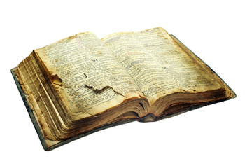 Very old open bible