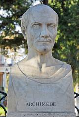 Rome Archimedes statue at Borghese villa