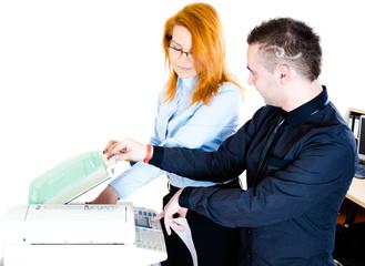 Photocopier flirting