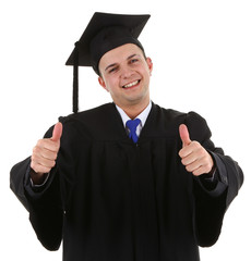 Very happy graduate