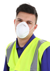 guy with dust mask
