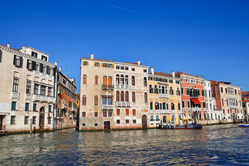 Traditional view of Grand Canal in, Venice