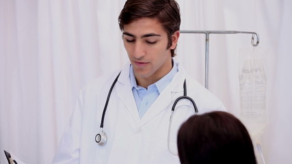 A doctor explaining results to his patient