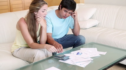 Couple having financial problem