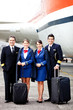 Pilots and air hostesses