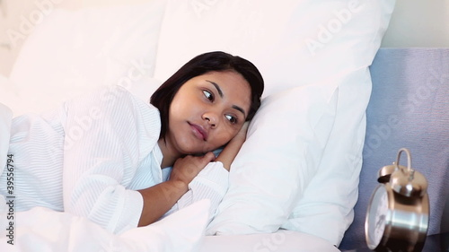 Woman happy to have time to sleep