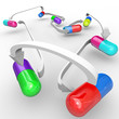 Medicine Drug Interactions Capsules and Pills Connected