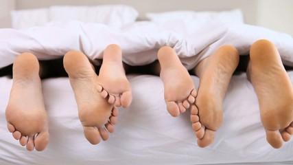 Feet stroking
