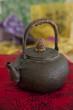 Antique Asian brass teapot
