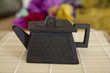 Hexagonal ceramic teapot