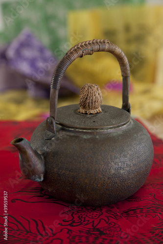 Antique Asian brass teapot