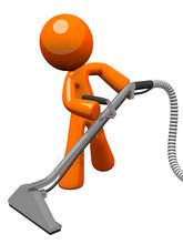 Orange Man z czystszego wylotu pary dywan