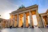 Brandenburg gate at sunset - Fine Art prints