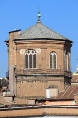 Octagonal dome of a medieval romanic church