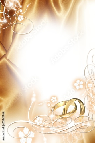 Wedding background  - Golden Wedding
