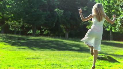 Woman dancing in slow motion