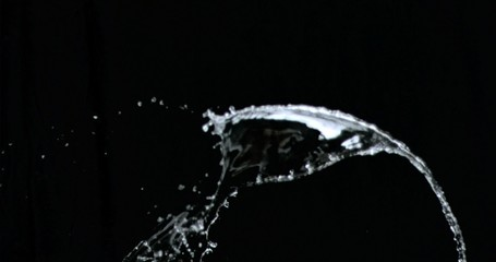 Water splashing upwards in super slow motion