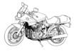 オートバイ線画03