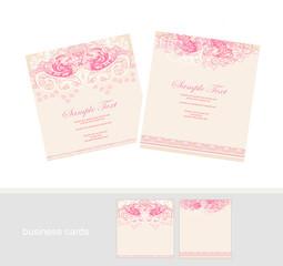 Stylish Wedding templates set