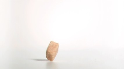 Sugar cube spinning in super slow motion