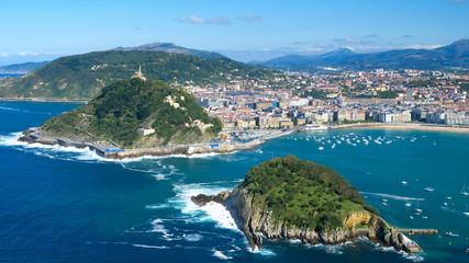 "The ""Concha"" gulf and San Sebastian city"