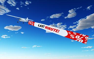Flugzeug mit Banner - Last Minute!