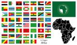 Afrika Flaggen Fahnen Set Buttons Icons Sprachen 4