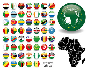 Afrika Flaggen Fahnen Set Buttons Icons Sprachen 5