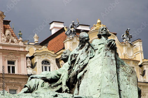 Prague - detail from Jan Hus memorial
